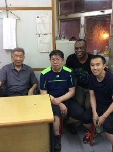Ip Ching, Eric Li and Paul Williams in Hong Kong at Ving Tsun Ahtletic Association